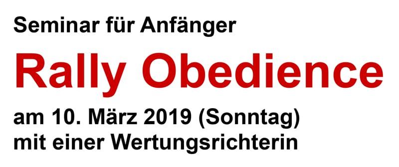 Seminar für Anfänger in Rally Obedience @ Auf dem ATFD-Gelände