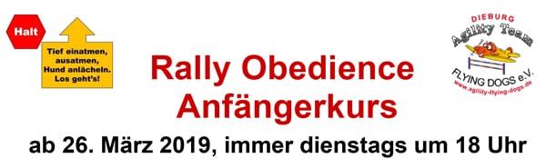 Rally Obedience Anfängerkurs @ Auf dem ATFD-Gelände