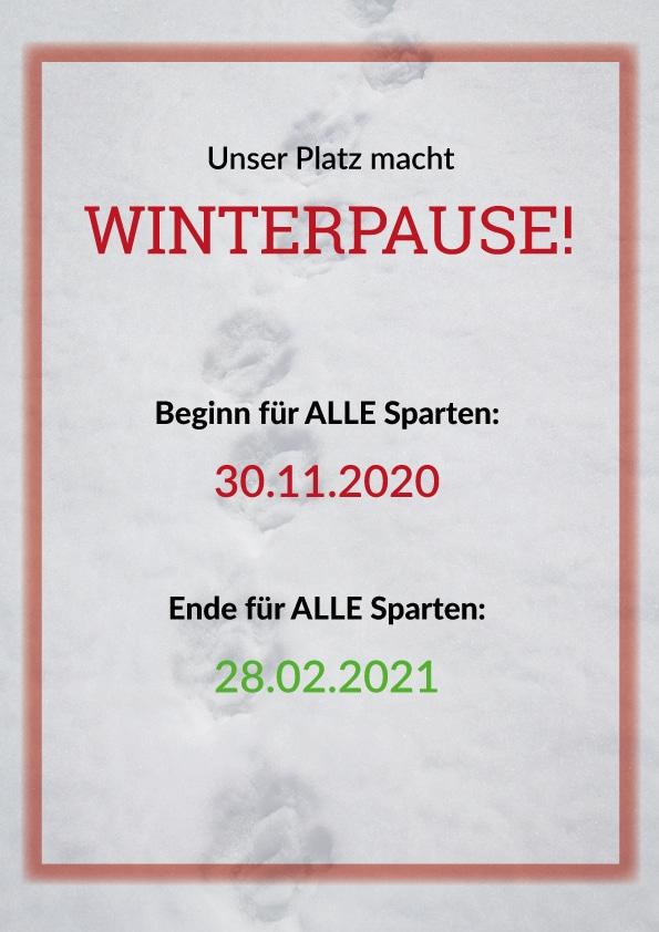 Winterpause bis 28. Februar 2021 @ ATFD-Gelände